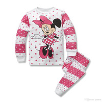 Wholesale Miki Mouse - Children Set Clothes The Small Girls Sets And Girls Set Print Miki Mouse Sets Long Sleeve 2015 New Autumn 2Y-7Y Children Clothing Sport Sets