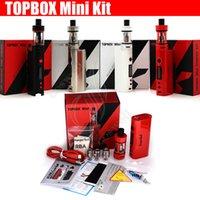 kutu mod geçici kontrol toptan satış-Kanger topbox Mini Başlangıç Kiti 75w 4ml En Fazla Dolum Tankı Sıcaklık Kontrol Kiti klon subox nano en iyi kalite e sigara Buharlaştırıcı kutu mods DHL