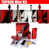 ingrosso i migliori mod cloni-Kanger topbox mini Starter Kit 75w 4ml Kit di controllo temperatura serbatoio di riempimento superiore clone subox nano migliore qualità e sigaretta Mod box scatola vaporizzatore DHL