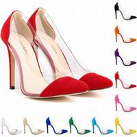Wholesale Square Corset - Womens Leather VELVET High Heels Corset Pointed Toe Party Pumps Ladies Wedding Shoes US Size 4-11 302-27VE