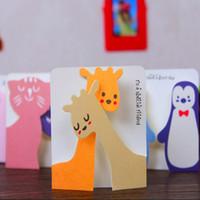 origami kağıt ücretsiz gönderim toptan satış-Zarflar Ile New30pcs / lot Mini Tebrik Kartı Evrensel Isteyen Kartları Tatil Noel Mesaj Kartı Kırtasiye Okul Malzemeleri