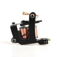 ingrosso ghisa di qualità-Nuova macchina rotativa superiore di stile per mitragliatrice per tatuaggi in ghisa nera di alta qualità