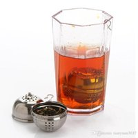 Wholesale Wholesale Teapots Accessories - Stainless Tea Infuser Strainer Tea Filter TeaSpoon Teapot accessories Tool for Kitchen Households Gadget Tea ball