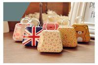 Wholesale Handbag Favor Box - creative mini handbag style candy storage box wedding favor tin box cable organizer container household wen4506