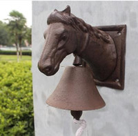 stable country - Cast Iron Ornate Horse Head Door Bell Doorbell Rustic Cottage Patio Garden Farm Country Barn Stable Dinner Bell Decor Free Ship