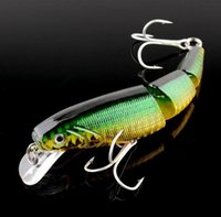 Wholesale Big Bass Bait - Swimbait Jointed Top Water Minnow Fishing Lures Hook Crankbait Bait Bass 3 Sections 10cm High quality