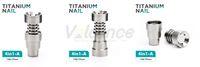 14mm 19mm titanyum çivi toptan satış-Evrensel Kubbesiz Titanyum Tırnak 10mm 14mm 19mm Kadın Erkek Ortak 2 IN 1 4 IN 1 6 IN1 Kubbesiz Spiral Titanyum Tırnak