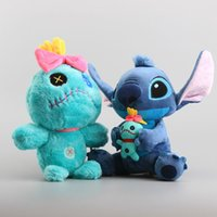 Wholesale Dolls 25 Cm - Lilo and Stitch Scrump Plush Doll Toys Cute Stitch Soft Stuffed Dolls For Kids Gift 25-30 cm