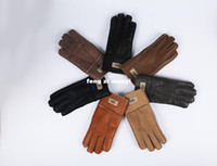 Wholesale Real Gloves - 2016 winter new men fur gloves warm gloves leather gloves high quality