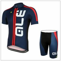 Wholesale Cheap Bicycle Pants - Summer ALE Short Cycling Suit Cheap Men's Cycling Jersey Sets Ropa Ciclismo Maillot Moisture-wicking Bicycle Racing Clothing Padded Pants