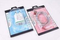 renkli iphone şarj cihazı kabloları toptan satış-Toptan En Çok Satan Perakende Özel Renkli Ambalaj için iphone 7 7 artı Mikro Usb Kablosu için Şarj Paketi
