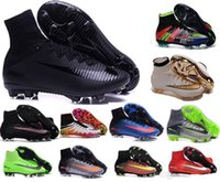 Wholesale Soccer Boots Acc - 2016 tf turf Superfly FG AG Soccer Shoes High Ankle Football Boots ACC Men Outdoor Superfly CR7 Cleats With Socks Free Shipping