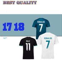 Wholesale Real Discount - top quality 17 18 Real madrid soccer Jerseys 2017 2018 Benzema Ronaldo MODRIC ISCO BALE SERGIO RAMOS embroidery football shirt discount