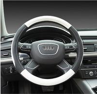 Wholesale Carbon Fiber Steering Wheels - 38cm M Performance Carbon Fiber Non-Slip Luxury Car Steering Wheel Cover