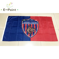 Wholesale Cm C - Italy Cosenza Calcio Srl (Serie C) 3*5ft (90cm*150cm) Polyester flag Banner decoration flying home & garden Festive gifts