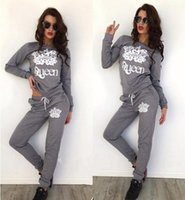 Wholesale Gray Velour Tracksuit - Free shipping Women' Velvet Fabric Tracksuits Velour Suit Women Sport Track Suit Hoodies And Pants Size S-XL