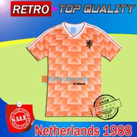 Wholesale Retro Shorts Men - Retro 1988 World Cup champion Netherlands Soccer Jersey Top Thai quality 1988 Holland Retro 04 05 Real Madrid MEXICO 1998 soccer jersey