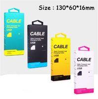 ingrosso pacchetto imballaggio al dettaglio vuoto-Universal Empty Retail Package per adattatore USB DATA CABLE MICRO V8 IP tipo C C-cavo dati USB CAVO 1.5m
