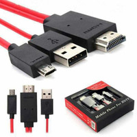 Wholesale Vga Mhl S3 - 3 in 1 Full HD MHL Micro USB To Vga HDMI 1080p HDTV Adapter Cable For Samsung Galaxy S3 S4 Note2 Digital Cable