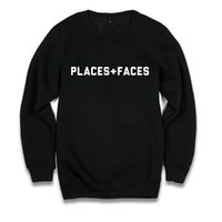 Wholesale Faces Sweaters - Places + Faces Crew Neck Sweatshirt Men Women Black Letters Print Oversized Hoodies Design Skateboard Pullover Sweaters HOG1203