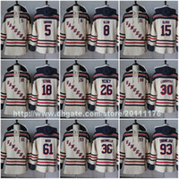 Wholesale Xl Wine Glasses - Stitched Mens New York Rangers Jerseys Hoodies 5 Dan Girardi 8 Kevin Klein 15 Tanner Glass 18 Marc Staal Jimmy 26 Vesey Hockey Jersey Hoodie