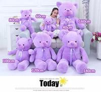 ingrosso bambole di grandi dimensioni orso-Di alta qualità a basso prezzo peluche giocattoli varie dimensioni 40-180 cm / lavanda-profumato orsacchiotto grande abbraccio orso bambola / amanti / regalo di compleanno
