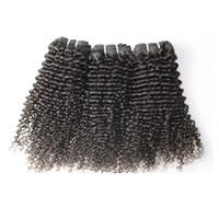 comprimentos de tecido peruano venda por atacado-BQ Produtos Tecer Cabelo Peruano Comprimento Mix 3 pacotes Kinky Curly Trama Do Cabelo humano 8