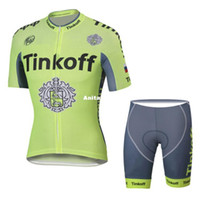 Wholesale Suite Cycling - 2016 Team Cycling Jersey Tinkoff Saxo Bank Cycling Wear Quick Dry Fluo Light Cycling Clothing and shorts bib suite XS-4XL