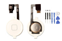 Precio de Iphone 4s Home Button Flex Key-Home Menu Button Key Cap Flex Cable Bracket Holder Set Asamblea para el iPhone 4 4G 4S CDMA Blanco Parte de Recambio Blanco 100PCS / Lot