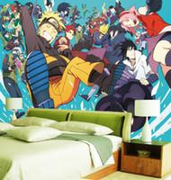 Individuelle 3d Tapete Naruto Fototapete Japanische Anime Fototapete Jungen Schlafzimmer Tv Hintergrund Moderne Raumdekoration Sasuke Coole Tapeten