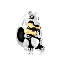 Metals squirrel peanut - Beads New Arrival Silver Plated Beads Gold Peanut Cute Squirrel Animal Charms For Bracelets European Bead CBA66