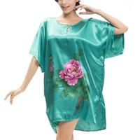 Wholesale Kimono Sleeve Robe Wholesale - Wholesale-Women Floral Robe Kimono Bath Gown Nightgown Sleepwear Dress