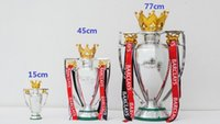 Wholesale Fa Shipping - FREE SHIPPING Huge 45CM 3KG FA Premier British Premier League Trophy Soccer Football Replica Trophy BPL W  RIBBON 2015 version