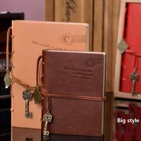 Wholesale Random Classic Retro Vintage Leather Notebook Bound Blank Page Journal Diary Creation Office School Supplies Gifts style A5 And A6 ZJ N06