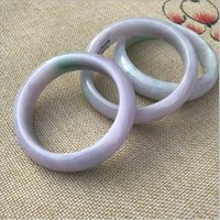 Nova China tradicional Natural Myanmar Jadeite Pulseira Jade Bangle Ice Waxy tipo bar violeta para mulheres