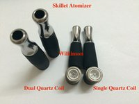 Wholesale D Series Ego Battery - Wax Skillet Atomizer with Dual Quartz Rod Coil Rebuildable Single Quartz coil for EGO D Series Ego-T Ego-vv EVOD Battery