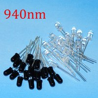 Wholesale- 20 5mm 940nm IR LED émetteur infrarouge assorti et récepteur IR Diode 20pairs Diodes 5mm 940nm infrarouge LED Diode LED lampe