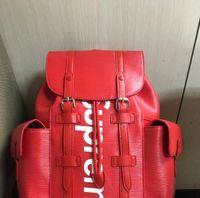 Wholesale Famous Boys - High quality Europe 2017 Luxury brand women backpack men bag Famous designers canvas men's backpack women's travel bag backpacks