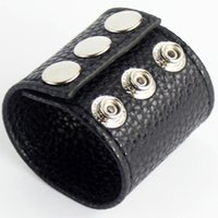 Wholesale testicle gear resale online - PVC Leather Testicle Stretcher Sex Toy For CBTAdjustable Size Fetish Gear Ball Stretchers