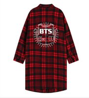 Wholesale poster new - BTS New Tracksuits Sailor Moon Sweatshirt Women's Hoodies Poster Red Plaids Long Shirts Tops Fashion Hoodies Clothing for Male