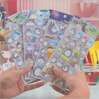 Wholesale Totoro Wholesale Japan - New Nice Japan 3D TOTORO design Luminous series sticker hot selling decoration stickers wholesale , free shipping