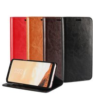 Wholesale Wholesale Cell Phone Smart Covers - Wallet Case for Samsung S8 plus PU Leather Kickstand Wallet Back Cover Pouch Slot Smart Cell Phone Cases for Samsung S8 with holder OPP Bag