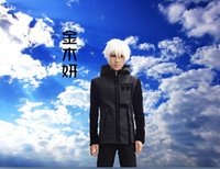 Wholesale Combat Hoodie - Fall-New anime Tokyo Ghoul Kaneki Ken cosplay costume jacket coat hero black Combat hoodie