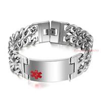 Wholesale Unique Gifts Valentines Day - Unique Valentine Gift Cross Shape Silver 316LStainless Steel Bracelets Bangles Colorfast Men Punk Jewelry Wristband 23.4CM Men ID Bracelet