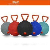 Wholesale One Touch Mini - Wireless Waterproof Speaker Clip 2 clip2 Buit-in Mic Hands-Free Speakers phone one touch cellphone wireless daisy chain subwoofer PK flip3