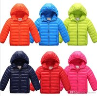 Wholesale New Boys Down Clothing - Free shipping 2016 new boys coat children's clothes kids warm jacket boys down coat jackets outerwear wholesale and retail