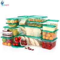 Wholesale 17Pcs set Plastic Storage Box Plastic Food Container Microwavable Food Storage Container Set Fresh Box Organizer Bento Lunch Box