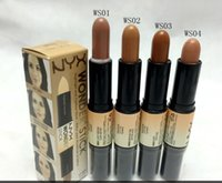 Wholesale Universal Sun Shade - Free Shipping !New Wonder stick highlights and contours shade stick Light Medium Deep Universal NYX concealer (4pcs lot)