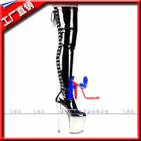 Wholesale Club Sexy Shoe For Women - 20cm classic over the knee boots high heel shoes sexy 8 inch thigh high boots for women sexy clubbing high heels