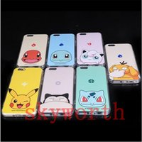 Wholesale Sale Iphone Waterproof - Hot sale Poke go case iphone 6s cases Waterproof Pikachu iphone cases covers for iphone 5s SE 6 6s plus